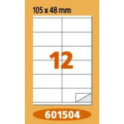 Labels  Laminex, A4, white, 105 x 48 mm, right angles