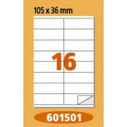 Labels  Laminex, A4, white, 105 x 36 mm, right angles